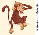 cute cartoon drawing of a... | Shutterstock .eps vector #637464346