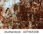 abstract rusty metal texture ... | Shutterstock . vector #637465108