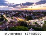 Small photo of Plovdiv, Bulgaria - April 9,2017: Sunset over Plovdiv from Nebet Tepe (Rahat Tepe)