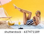 Luxury Young Woman On Summer...