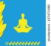 meditation icon. | Shutterstock .eps vector #637471480