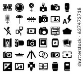 photography icons set. set of... | Shutterstock .eps vector #637473718