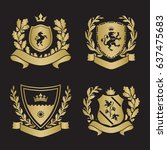 coats of arms   shields with...   Shutterstock .eps vector #637475683