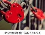 Two Love Locks On Fence