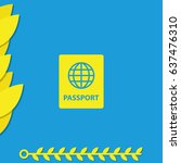 passport icon. | Shutterstock .eps vector #637476310