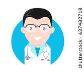 vector flat cartoon... | Shutterstock .eps vector #637482718