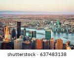 aerial on midtown east ... | Shutterstock . vector #637483138