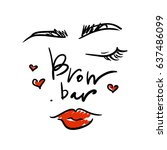 logo for the brow bar with the...   Shutterstock .eps vector #637486099