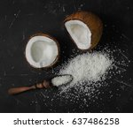 Coconut Halves With Shell With...