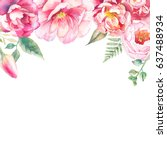 Watercolor Frame Design With...