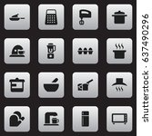 set of 16 editable cook icons....   Shutterstock .eps vector #637490296