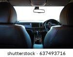 closeup interior modern car... | Shutterstock . vector #637493716