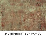 peeled concrete aged wall....   Shutterstock . vector #637497496
