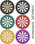raster set of dartboards in... | Shutterstock . vector #63749815