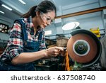concentrated components factory ... | Shutterstock . vector #637508740