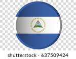 a 3d button of the flag of ...