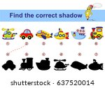 find correct shadow. kids... | Shutterstock .eps vector #637520014