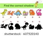 find correct shadow. kids... | Shutterstock .eps vector #637520143