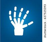 x ray  bones  hand skeleton icon   Shutterstock .eps vector #637525393