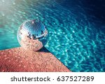 party rave event disco ball... | Shutterstock . vector #637527289