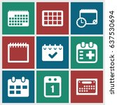 appointment icons set. set of 9 ... | Shutterstock .eps vector #637530694