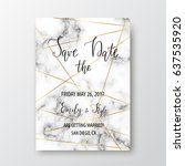 save the date postcard. marble... | Shutterstock .eps vector #637535920