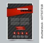 flyer template. abstract... | Shutterstock .eps vector #637537318
