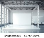 empty stage with metal... | Shutterstock . vector #637546096