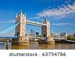 Tower Bridge In London  Uk