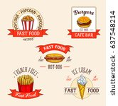 fast food restaurant vector... | Shutterstock .eps vector #637548214