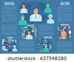 medical personnel and hospital... | Shutterstock .eps vector #637548280