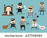 crime and punishment. vector... | Shutterstock .eps vector #637548484