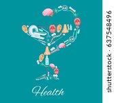 health medical vector poster of ... | Shutterstock .eps vector #637548496