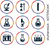 laboratory icons set. set of 9...   Shutterstock .eps vector #637556164