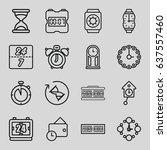 clock icons set. set of 16... | Shutterstock .eps vector #637557460