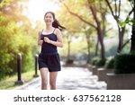 smiling asian beautiful woman...   Shutterstock . vector #637562128