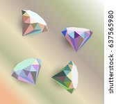 origami precious stones. shiny...   Shutterstock .eps vector #637565980