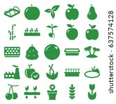 leaf icons set. set of 25 leaf... | Shutterstock .eps vector #637574128