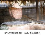 thai old traditional salt... | Shutterstock . vector #637582054