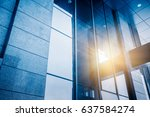modern glass building in the... | Shutterstock . vector #637584274
