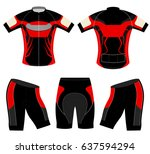 sports t shirt red style vector ... | Shutterstock .eps vector #637594294