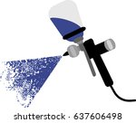 spray gun to paint cars | Shutterstock .eps vector #637606498