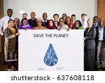 save the planet sustainable... | Shutterstock . vector #637608118
