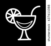 cocktail line icon  outline...