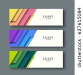 set of banners. abstract... | Shutterstock .eps vector #637615084