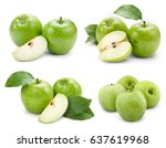 apple fruits collection with... | Shutterstock . vector #637619968