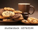 Assorted Cookies In Brown Plat...