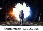astronaut in outer space. mixed ...   Shutterstock . vector #637652956