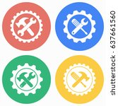 tool vector icons set.... | Shutterstock .eps vector #637661560