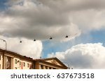 Small photo of ST. PETERSBURG, RUSSIA - MAY 09: flight military aeromechanics for participation in a parade,RUSSIA - MAY 09 2017. In Russia in honor of a Victory Day military parades are held